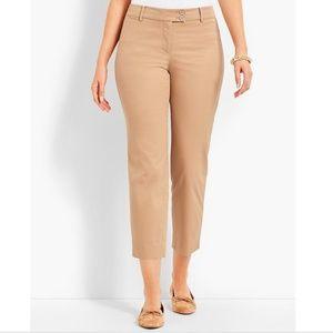 talbots womens 14p the perfect crop khaki pants ca
